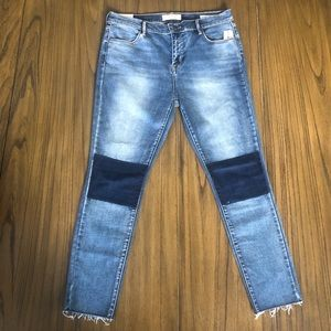 PacSun ankle jegging skinny raw hem stretch jeans